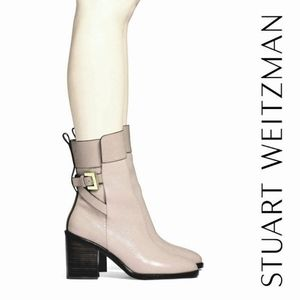 Gorgeous Stuart Weitzman Pebbled Leather Booties